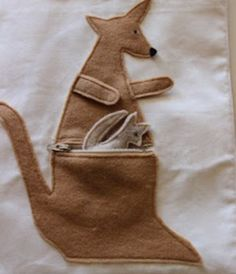 Kangaroo quiet book page and lots of other cute pages too