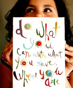 Do what you can original painting canvas by vickygonart on Etsy, $45.00