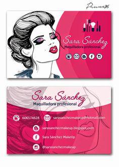 Tarjeta de visita para maquilladora profesional #makeup #maquillaje                                                                                                                                                     Más