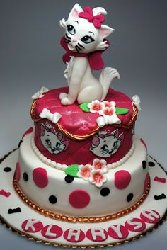 arista cats Birthday Cakes | Birthday party in London - Cake with Marie - Walt Disney Aristocats