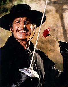 Zorro played by George Hamilton in Zorro the Gay Blade.....so funny!