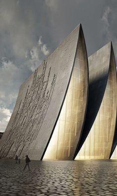 Questa idea è nata da un invito agli architetti di Axis Mundi ha ricevuto per la nuova cattedrale di Strasburgo (Francia). Esso è composto da elementi molto facilmente identificabili nelle immagini. Con un composto di una successione di struttura curve di lastre in calcestruzzo , dando l'aspetto generale di una piega gigante, che a sua volta crea un ritmo di moderna vetrate.