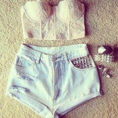 crop top with high waisted shorts  #MissKL #MissKL Coachella #MissKLCoachella