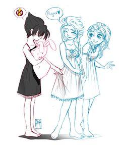 Evil Elsa, Anna and Elsa