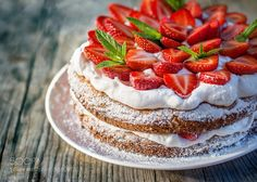 Strawberry cake by SvetlanaEgorova #food #yummy #foodie #delicious #photooftheday #amazing #picoftheday