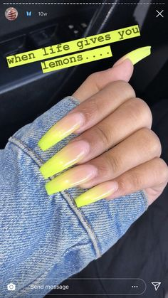 75 The Most Beautiful Ombre Acrylic Nails Designs You'll Like – Page 51 of 75 Dope Nails, Neon Nails, Aycrlic Nails, Stiletto Nails, Hair And Nails, Faded Nails, Best Acrylic Nails, Acrylic Nail Designs, Coffin Nails Designs Summer