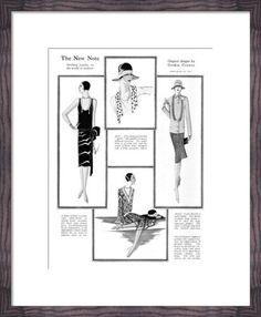 New Fashions Notes, 1927 Art Print by Gordon Conway at King & McGaw