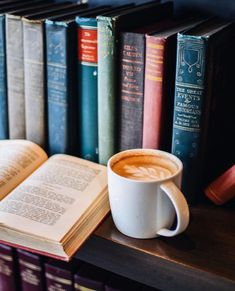 Pretty coffee and books