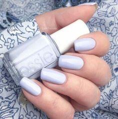 Pastel lavender nail art