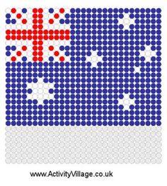 Australian Flag Fuse Bead Pattern