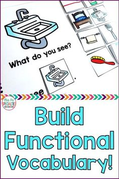 I See Commenting Interactive Books Level 1 Build functional vocabulary with these interactive books by teaching students to comment and talk about common objects, ADL items, animals a Life Skills Classroom, Autism Classroom, Special Education Classroom, Autism Books, Early Education, Vocabulary Activities, Speech Therapy Activities, Language Activities, Speech Therapy