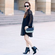 These 5 #OOTDs Prove There's Nothing Quite Like An LBD #refinery29  http://www.refinery29.com/unique-little-black-dress-outfits#slide4  Toshiko Shek's babydoll dress is a no-brainer for brunch, shopping trips, and any other weekend adventures.