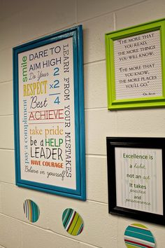 Would like to do a wall or area like this in my classroom with words of wisdom -- Find Your Inspiration area