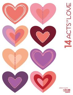 14 acts of love printable