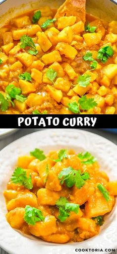 This is a simple, tasty, and foolproof Potato Curry recipe. Made with coconut milk, this dish is filling, creamy, and suitable for vegans. Tasty Vegetarian Recipes, Chilli Recipes, Vegetarian Cooking, Wine Recipes, Indian Food Recipes, Healthy Recipes, Vegan Ribs, Potato Curry, Curry Dishes
