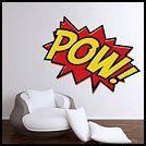 pow wall mural stickers-superhero bedroom wall decorations