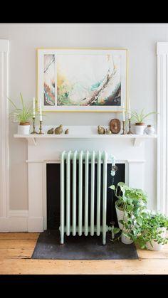 Mint green radiator!!