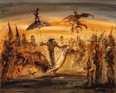 Fantasía goyesca, 2013 Óleo sobre tela 80 x 100 cm. Colección privada