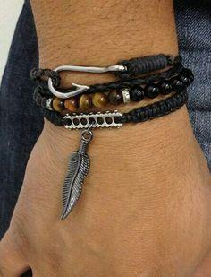 Great pairing of men's bracelets
