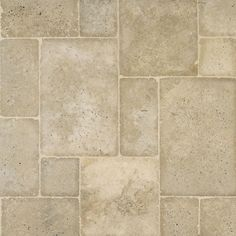 fl/Mexican Noce tumbled travertine in Versailles pattern from Arizona Tile.