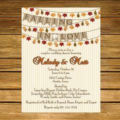 Falling in Love Wedding Shower  Fall Leaves by LiliesoftheFields, $18.00