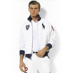Ralph Lauren Herren Flag Track Jacket In Weiß
