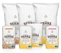 Flour Package Design Bakery Branding, Food Branding, Food Packaging Design, Packaging Design Inspiration, Branding Design, Packaging Ideas, Sugar Packaging, Bread Packaging, Beverage Packaging