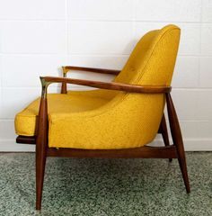 Ib Kofod-Larsen Lounge Chair   From a unique collection of antique and modern armchairs at http://www.1stdibs.com/furniture/seating/armchairs/