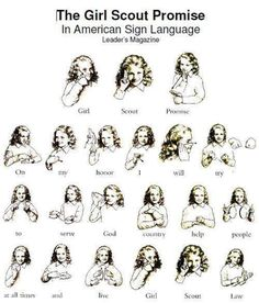 Teach Sign Language #asl #girlscouts