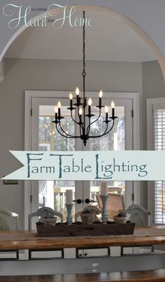 Lighting over the Farmhouse Table-The Winner! - All Things Heart and Home