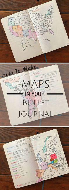 How to make maps in your bullet journal #journalling #bulletjournal