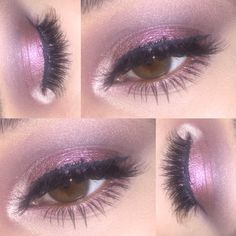 Pinks and Mauves using the Buxom Dolly's Wild Side Eyeshadow Palette
