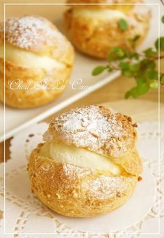 "Crispy Cream Puff Pastry! ""A combination of crispy and fragrant choux pastry and thick custard cream. I'm happy all day if I can get the choux pastry to rise nicely. Recipe by nyonta""  @allthecooks #recipe #dessert #pastry"