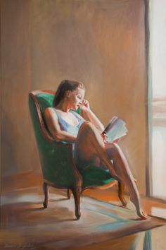 "Saatchi Online Artist: Natalia Baykalova; Oil, 2012, Painting """"Near the window""""  such simple beauty...love the colors."