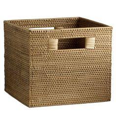 "Storage bin for mudroom  modern weave. 12"" x 12""   west elm"