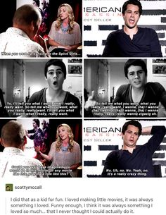 I go and watch true wannabe when I want to smile. Thanks Dylan Stydia, Sterek, Teen Wolf Dylan, Dylan O'brien, Evan Sanders, Teen Wolf Quotes, Dylan Sprayberry, O Brian, Scott Mccall