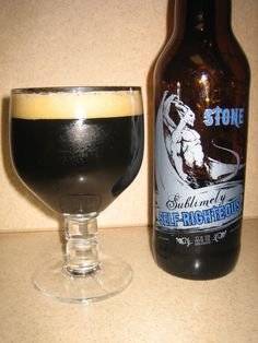 Stone, Sublimely Self Righteous, Black IPA, ABV 8.7%