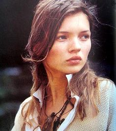 fresh as a daisy- Kate Moss for Rowan in 1990