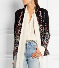 Embroidered Wool and Cashmere-Blend Jacket by Vilshenko