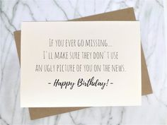 Funny Birthday Card for Best Friend Ironic Birthday Card Trendy Card Ironic Card Sarcastic Card Milk Carton Card Clever Card - Geburtstagsparty Birthday Quotes Funny For Him, Birthday Message For Friend, Best Friend Birthday Cards, Best Friend Cards, Birthday Cards For Friends, Birthday Messages, Funny Birthday Cards, Birthday Diy, Best Friend Gifts