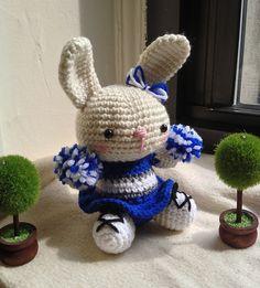 Cheerleader Bunny Amigurumi - FREE Crochet Pattern and Tutorial by Jennifer Y. Wang