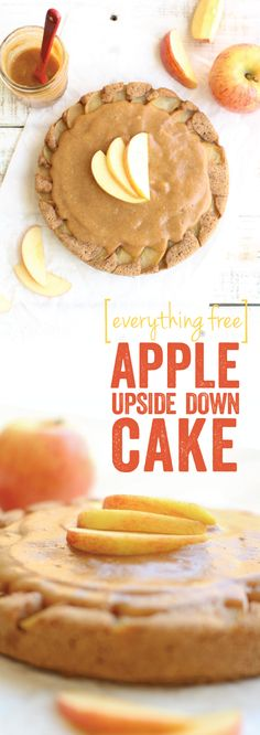 Apple Upside Down Cake. Yum. Can't wait to make this. It's actually healthy. And vegan :D
