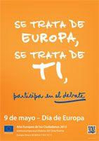 """09.05.2013 Día de Europa. Avui se celebra la pau i la unitat del continent europeu i també l'aniversari de la """"declaració de Schuman"""". + info: http://europa.eu/about-eu/basic-information/symbols/europe-day/index_es.htm"""