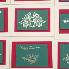 Great value for 10 hand made Christmas cards!