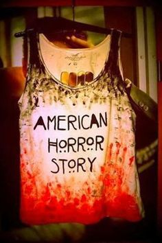 "Stylish Printed ""American Horror Story"" Shirt."