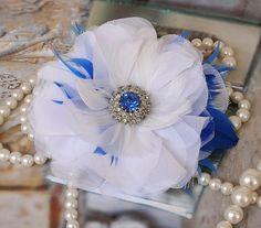 Something Blue Bridal Hair Flower @Angela Lowell-Schade #weddings @Top Wedding Sites