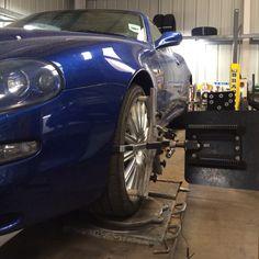 Maserati 4200 GT wheel alignment check and adjustment Wheel Alignment, Maserati, Edinburgh, Centre, Bmw, Vehicles, Check, Car, Vehicle