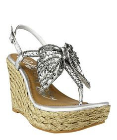 683956e7c Naughty Monkey Silver Feel Free Leather Espadrille