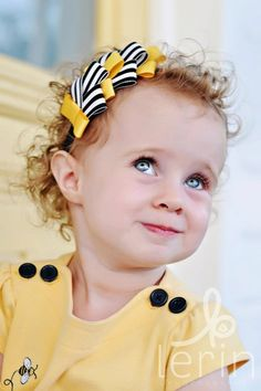 Cute! Celebration Ribbon Headband in Bumblebee Yellow and by spinkie