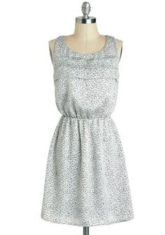 Coeur for a Rainy Day Dress, ModCloth Day Dresses, Cute Dresses, Dress Outfits, Short Dresses, Fashion Dresses, Dresses For Work, Summer Dresses, Silky Dress, Retro Vintage Dresses